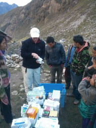 sorting med supplies