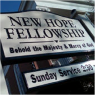 New Hope Fellowship sign